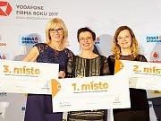 Vodafone Firma roku 2017 Česká spořitelna Živnostník roku 2017 - Středočeský kraj. Zleva: Lenka Hlaváčová, Irena Šípalová, Lucie Slauková.