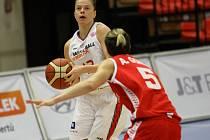 Z basketbalového utkání FIBA Eurocup Women Nymburk - Namur Capitale (70:41)