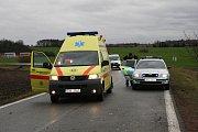 V sobotu po jedenácté dopoledne došlo na silnici z Jiřic na Benátky nad Jizerou k vážné dopravní nehodě.