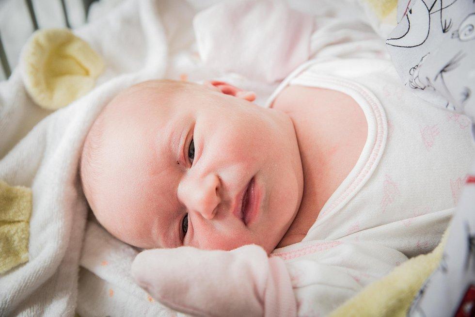 Ema Jandourková, Nymburk. Narodila se 8. května 2019 v 1.32 hodin, vážila 3 320g a měřila 50cm. Na holčičku se těšili rodiče Adéla a Antonín a bratříček Antonín (15 měsíců).