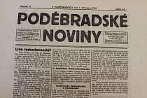 Z týdeníků Poděbradské noviny informují o vzniku republiky jako první. Vyšly 1. listopadu 1918.