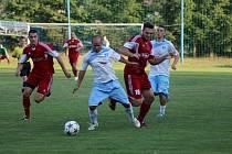 Z přípravného fotbalového utkání Suchdol - Vykáň (1:1)