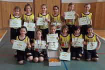 ZLATO. Mladé basketbalistky Sadské získaly na turnaji v Litoměřicích svoje první zlato
