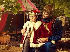 Král Jan a kralevic Karel.