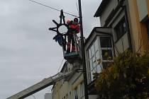 Vánoční výzdoba v Nymburce. Archivní foto.