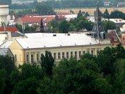 Ze střechy sladovny byla vidět panoramata celého regionu.