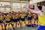 Nymburské Gymnázium Bohumila Hrabala vyhrálo Sportovní ligu středních škol v basketbalu.