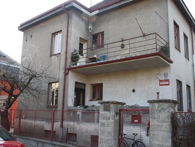 Současný stav ubytovny zaměstnanců nemocnice v Hrabalově vile