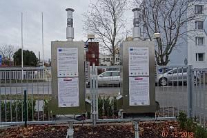 Mobilní zařízení na měření emisí.