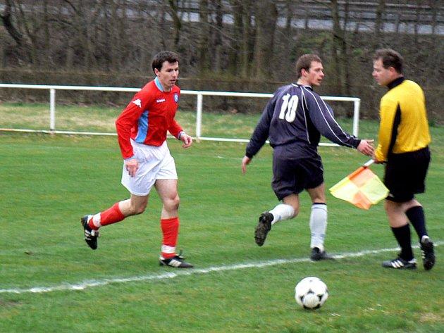 Sokolečský Vaňura (vpravo) dal proti Litoli první gól