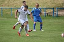 Z fotbalového utkání I.B třídy Sadská - Uhlířské Janovice (2:0)