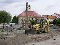Místa v Sadské, kde je čilý stavební ruch.