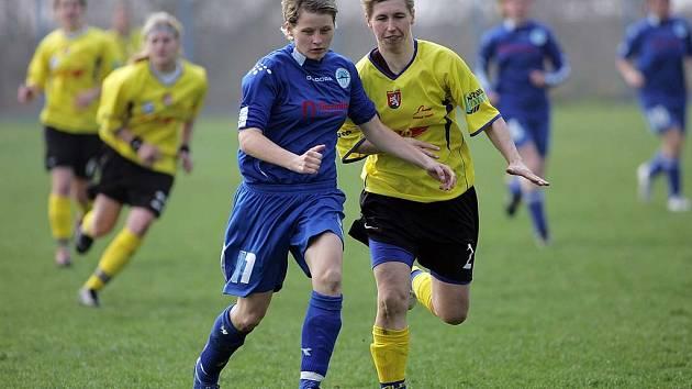 Z druholigového utkání žen Stará Lysá - Liberec (2:0).
