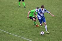 Z fotbalového utkání krajské I.A třídy Union Čelákovice - Klíčany (1:1, pk 5:4)