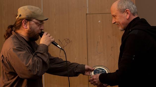 S Janem Neckářem na slavnostním večeru předávání hudebních cen Nymburský Otík