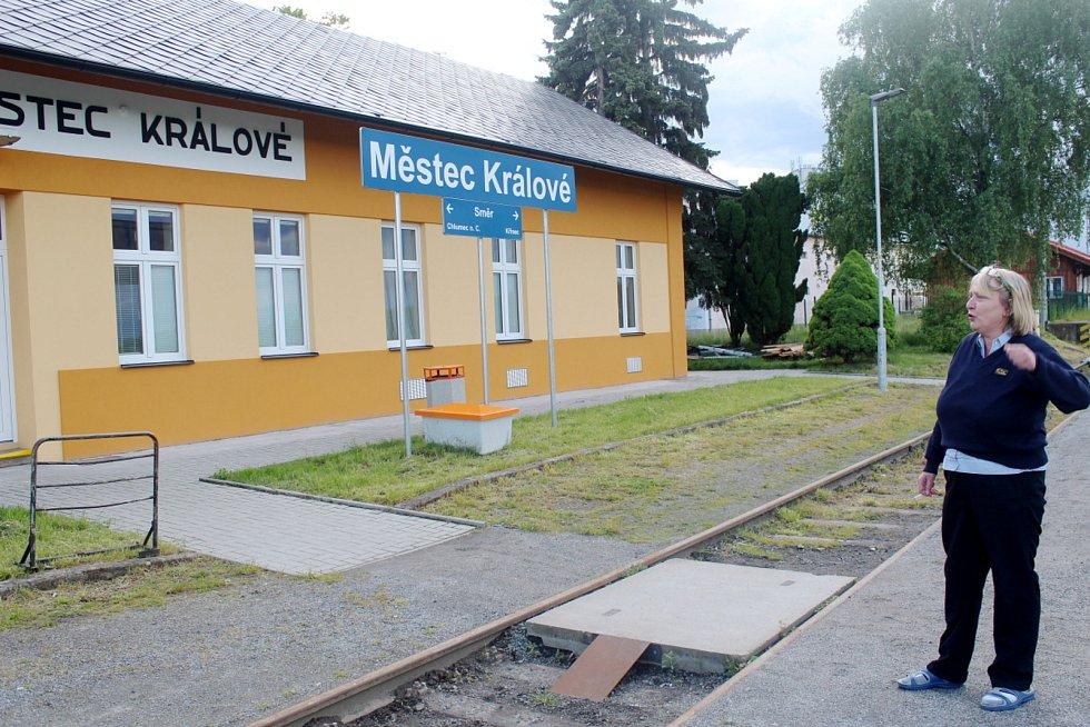 Budova nádraží v Městci Králové je právě po kompletní rekonstrukci.