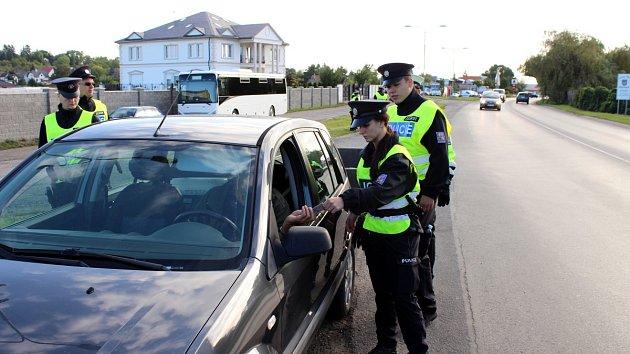 Policejní akce v Sadské