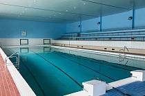 Opravený nymburský bazén.