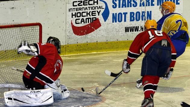 Z přípravného hokejového utkání Nymburk - Poděbrady (11:6)