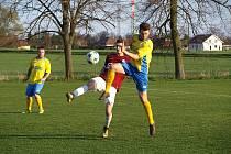 Z fotbalového utkání okresního přeboru Kovanice - Bohemia Poděbrady B (3:1)