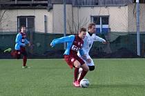 Z přípravného fotbalového utkání Bohemia Poděbrady - Kutná Hora (3:3)
