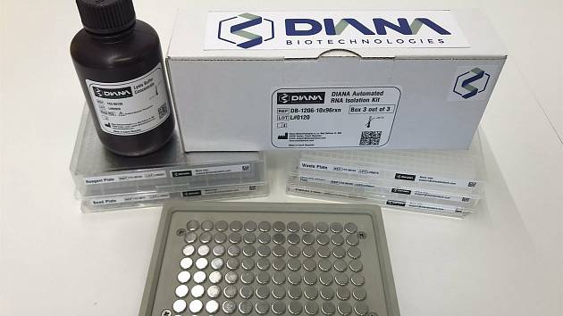 Testovací souprava na koronavirus od DIANA Biotochnelogies.
