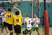 Z volejbalového utkání první ligy Nymburk - Brno (3:0)