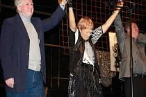 Poslední představení Evy Hrubé v Hálkově divadle. Zároveň křest básnické sbírky Vteřina z okamžiku