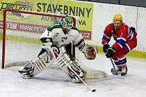 Z utkání druhé hokejové ligy Nymburk - Bílina (4:3 pp)