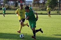 Z fotbalového utkání krajského přeboru Polaban Nymburk - Sedlčany (6:2)