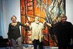 Za velkého zájmu přátel výtvarného umění a účastníků festivalu Soundtrack došlo k zahájení výstavy, která přibližuje tvorbu malíře Antonína Kroči.