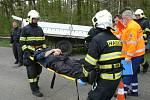 Cvičení simulující nehodu autobusu převážejícího vězně