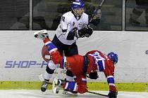Z hokejového utkání druhé ligy Nymburk - Tábor (2:3)