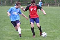 Ze zápasu fotbalového krajského přeboru Poděbrady - Jílové (1:1)