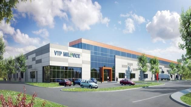 Vizualizace budouicího VTP v Milovicích