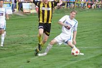 Z fotbalového utkání divizní skupiny B Litol - Aritma Praha (2:1)