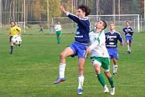 Fotbalisté Semic (v modrém) doma rozcupovali nymburský Polaban