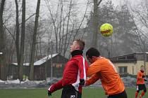 Z přípravného fotbalového utkání Bohemia Poděbrady - Polaban Nymburk (0:5)