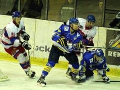 Z hokejového utkání druhé ligy Nymburk - Písek (5:3)