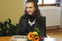 Krasobruslařka Anna Dušková z Lysé nad Labem.