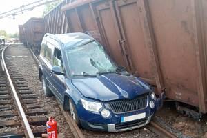 Železniční nehoda ve Mstěticích na Praze-východ.
