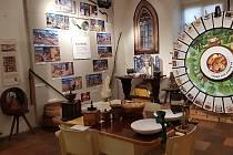 Z výstavy 'Jídlo deseti staletí' v Arnoldinovském domě v Brandýse nad Labem.