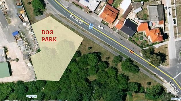 Místo, kde by měl Dogpark vyrůst.