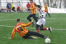 Z turnajového utkání v Červených Pečkách mezi týmy Poděbrad a Kouřimi (3:0)
