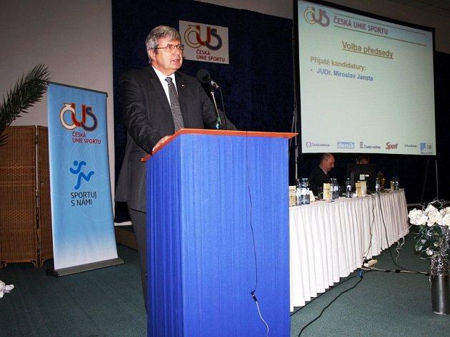 Miroslav Jansta při svém volebním projevu