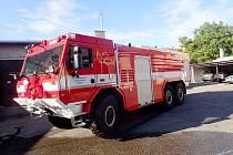 Nové zásahové vozidlo poděbradských hasičů.