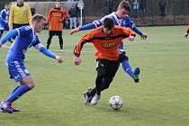 Z přípravného fotbalového utkání Polaban Nymburk - FK Kolín (3:6)