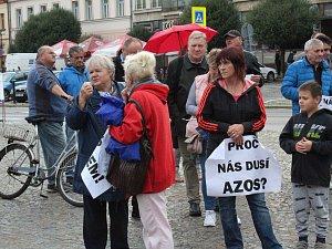 Demonstrace proti AZOSu