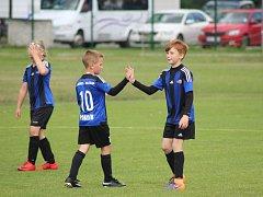 Z klání fotbalových přípravek, které sehrály krajské finále kategorie U9 v Poděbradech