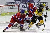 Z hokejového utkání druhé ligy Nymburk - Moravské Budějovice (2:6)